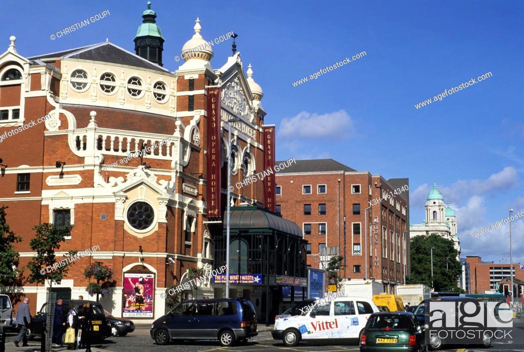 Stock Photo: Grand Opera House, Belfast, Northern Ireland, United Kingdom, Western Europe.