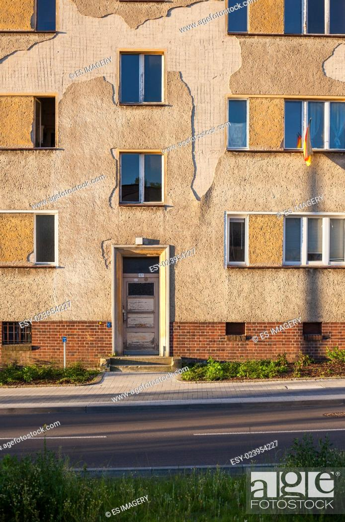 Stock Photo: Apartment building in Frankfurt (Oder), Brandenburg (former East Germany).