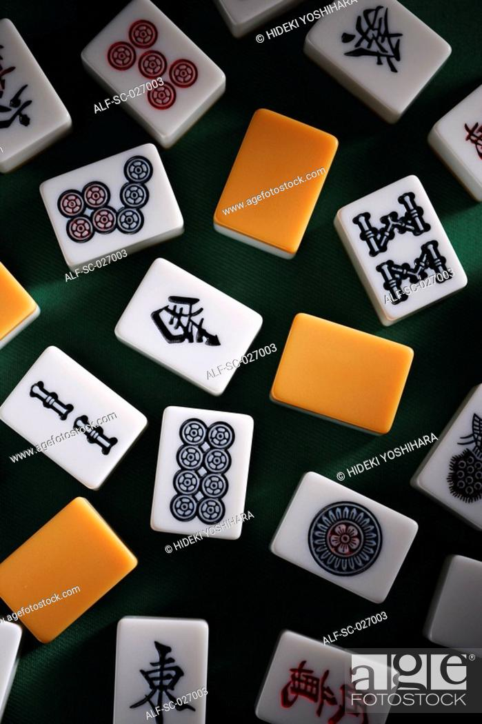 Stock Photo: Mahjong tiles.
