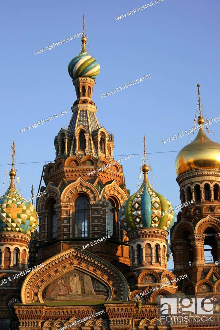 Stock Photo: Russia, St Petersburg, Church of the Resurrection Church on Spilled Blood.