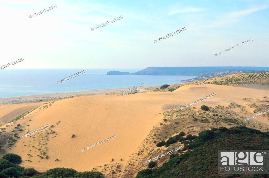 Stock Photo: Italy - Sardinia - West Coast Region - Cabras - Dunes.