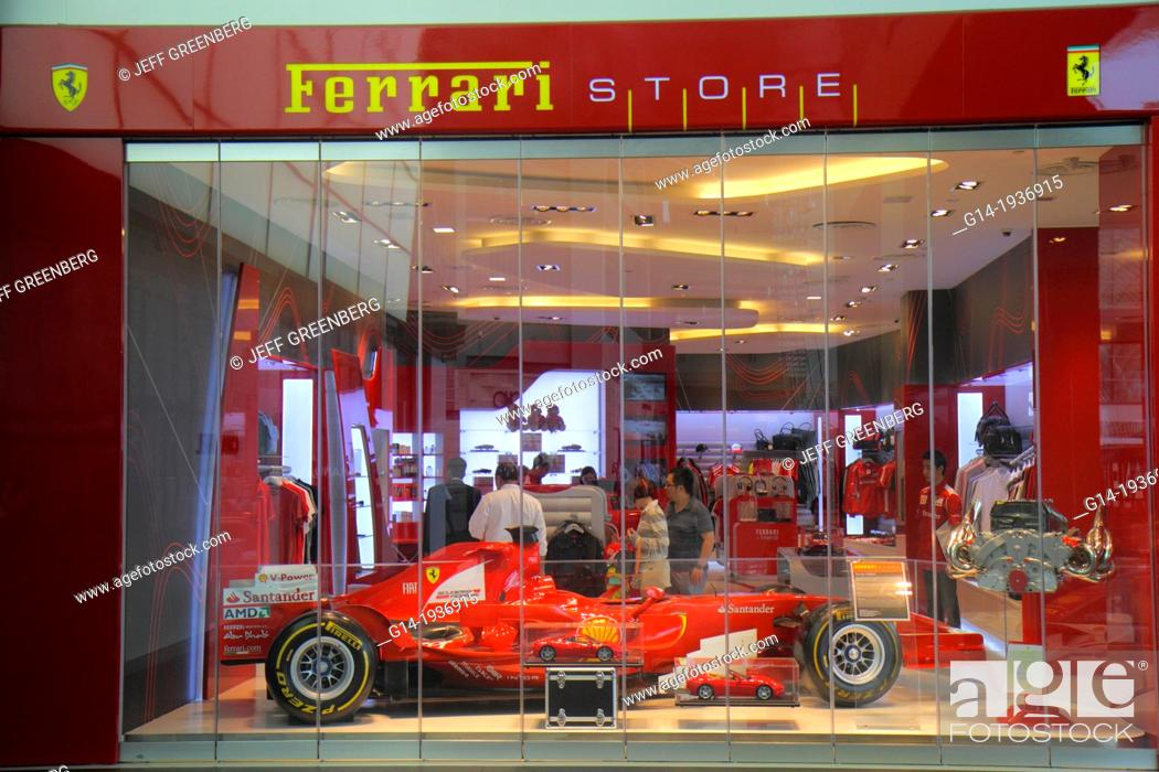 Singapore The Shoppes At Marina Bay Sands Shops Shopping Front Entrance Ferrari Store Stock Photo Picture And Rights Managed Image Pic G14 1936915 Agefotostock