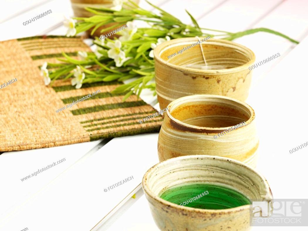 Stock Photo: beverage, ceramic cup, cuisine, food, flower, tea-things.