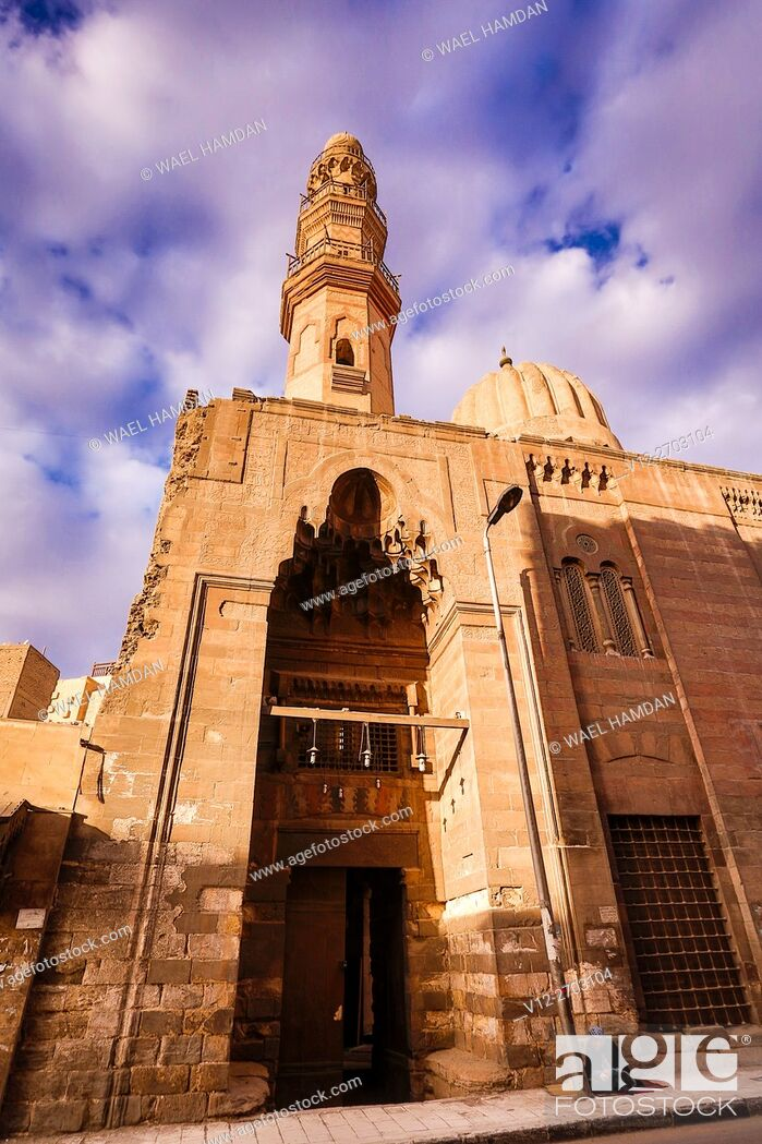 Stock Photo: Mosque of amir taghri bardi were built in the mamluk Period, Cairo, Egypt.