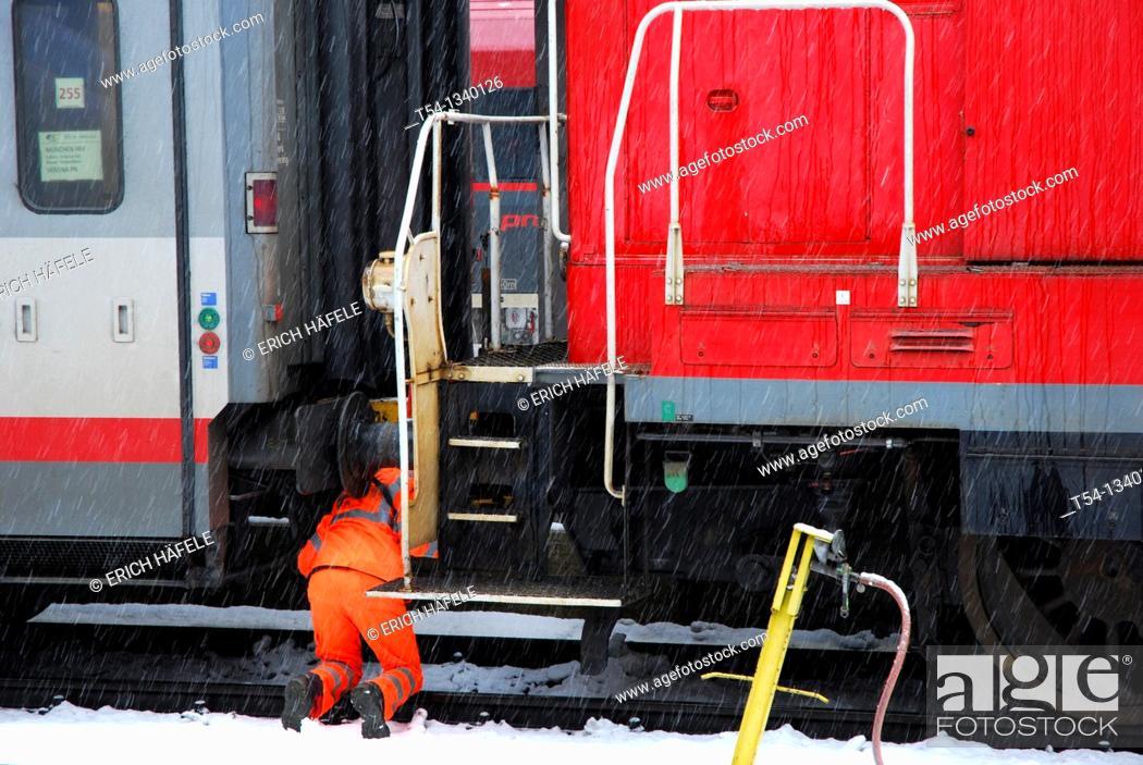 Stock Photo: Shunter at the Munich main station.