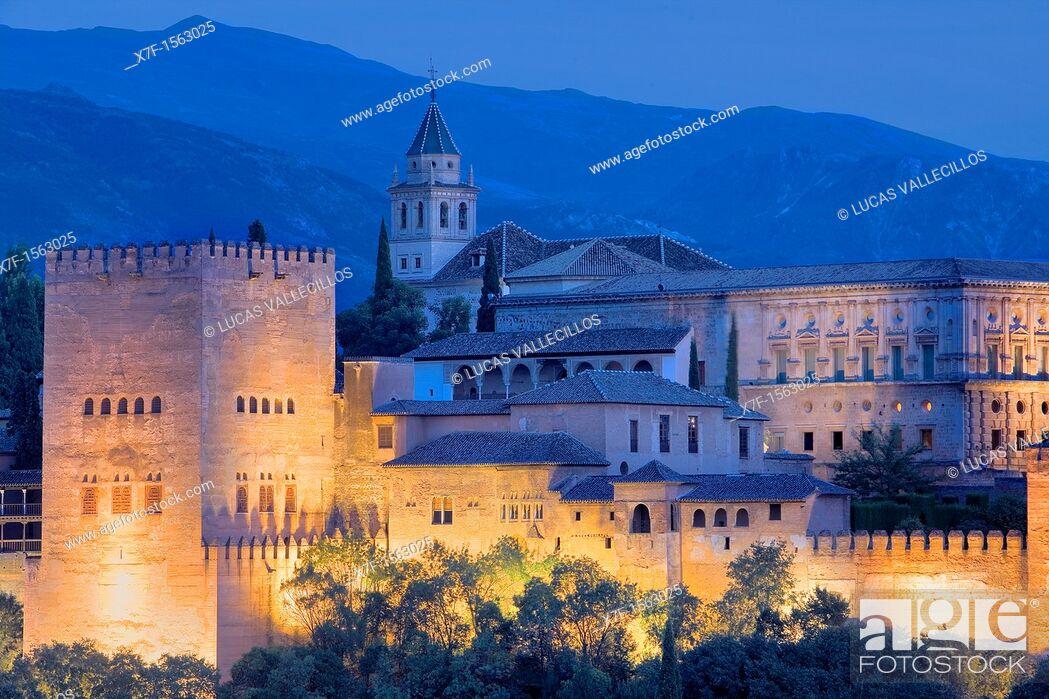 Stock Photo: Alhambra, Granada Andalusia, Spain.