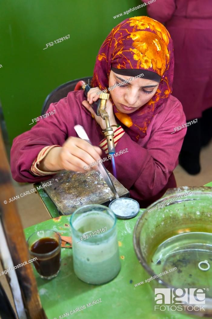 Stock Photo: Silver handmade, Dana Biosphere Reserve, Jordan, Middle East.