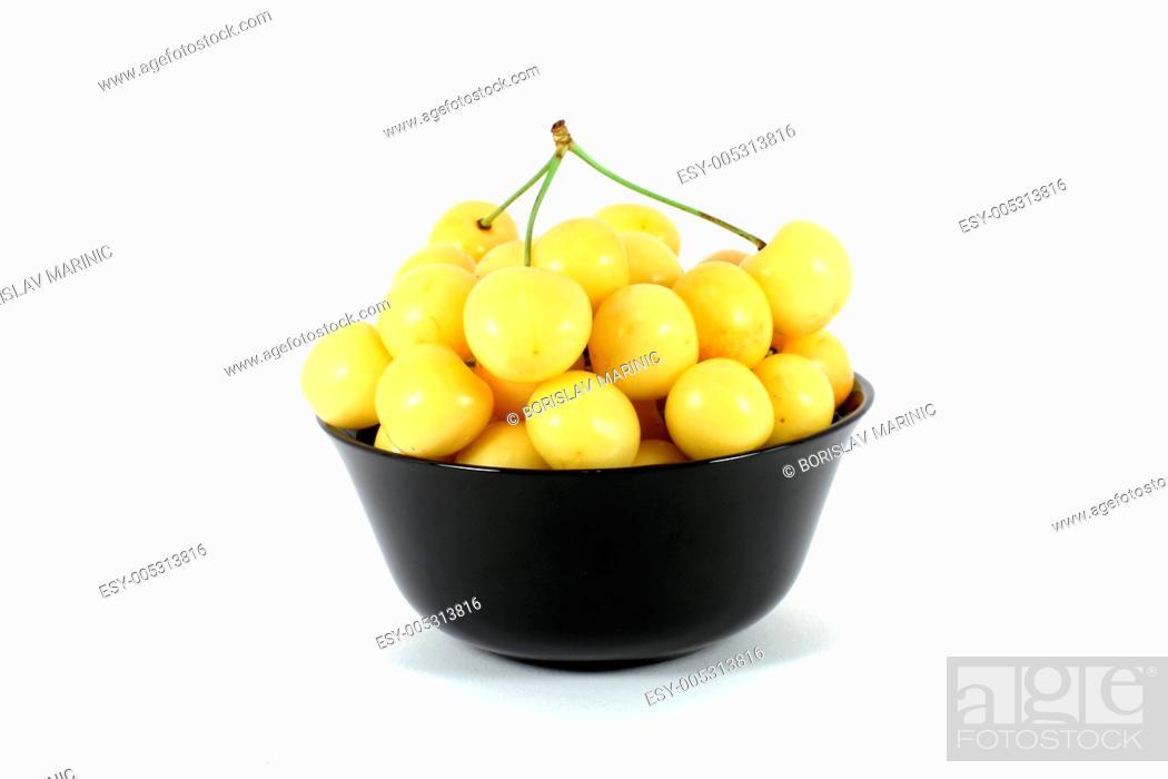 Stock Photo: Yellow cherry.