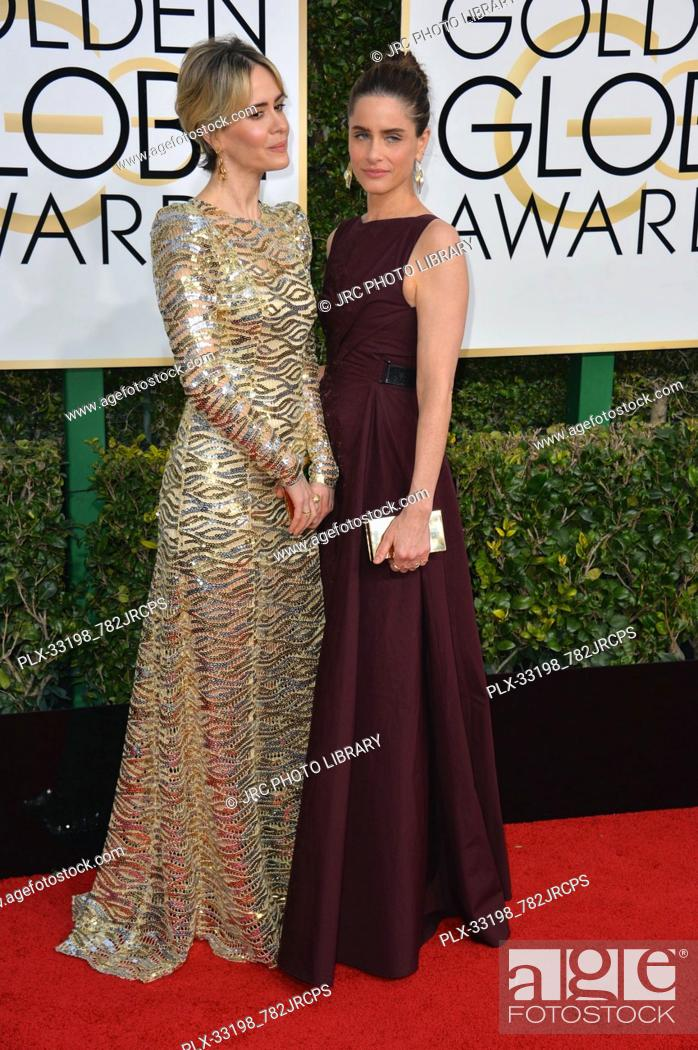 Sarah Paulson Holland Taylor At The 74th Golden Globe Awards At The Beverly Hilton Hotel Stock Photo Picture And Rights Managed Image Pic Plx 33198 782jrcps Agefotostock