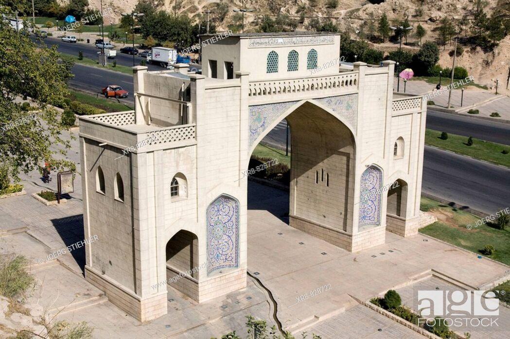 Stock Photo: Iran, Shiraz, Koran Gate.