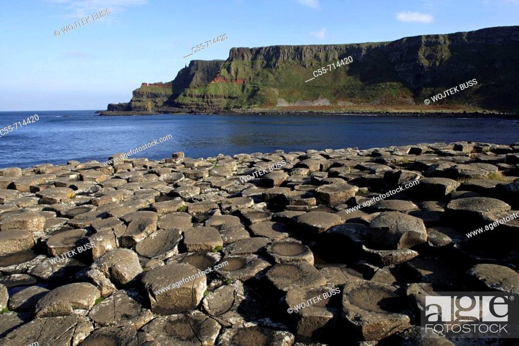 Stock Photo: Northern Ireland, Giant's Causeway, Co. Antrim, UK.