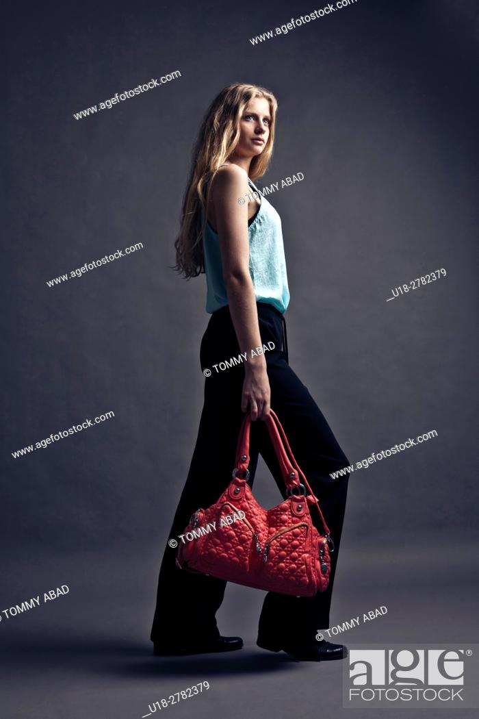 Stock Photo: red purse.