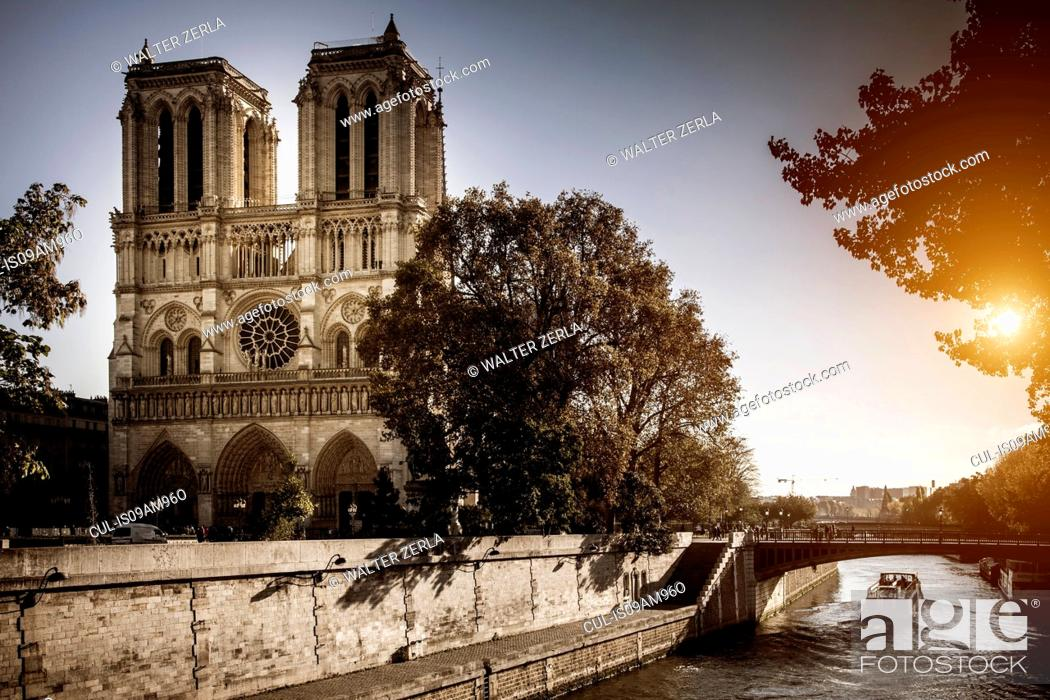 Stock Photo: View of Notre Dame, Paris, France.
