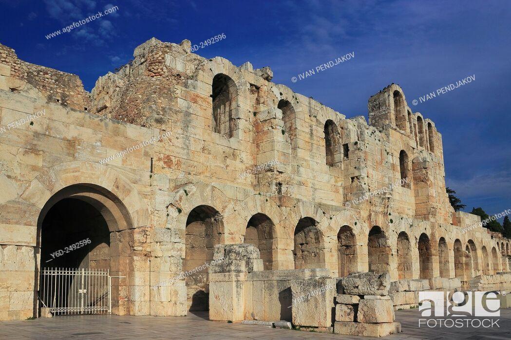 Stock Photo: Odeon of Herodes Atticus, Athens, Greece.