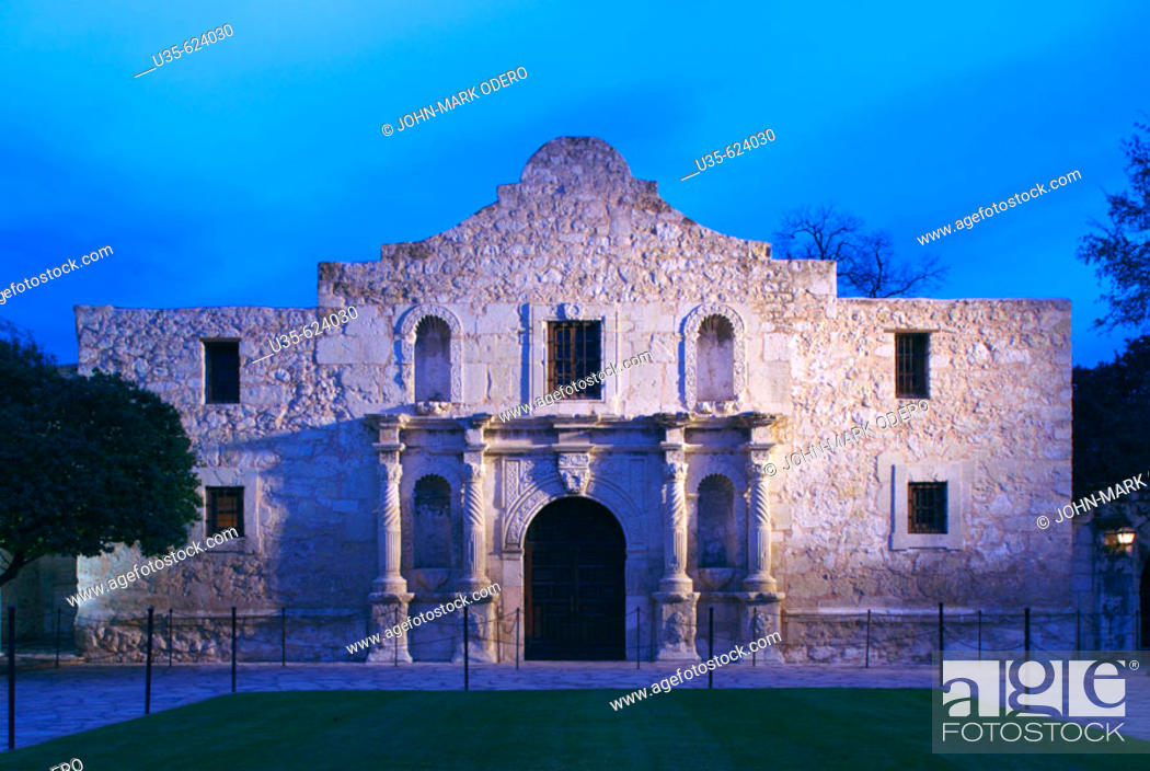 Stock Photo: The Alamo. San Antonio. Texas, USA.