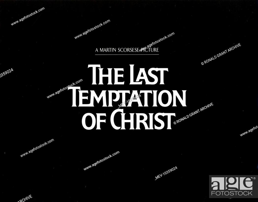 the last temptation of christ posters stock photo picture and