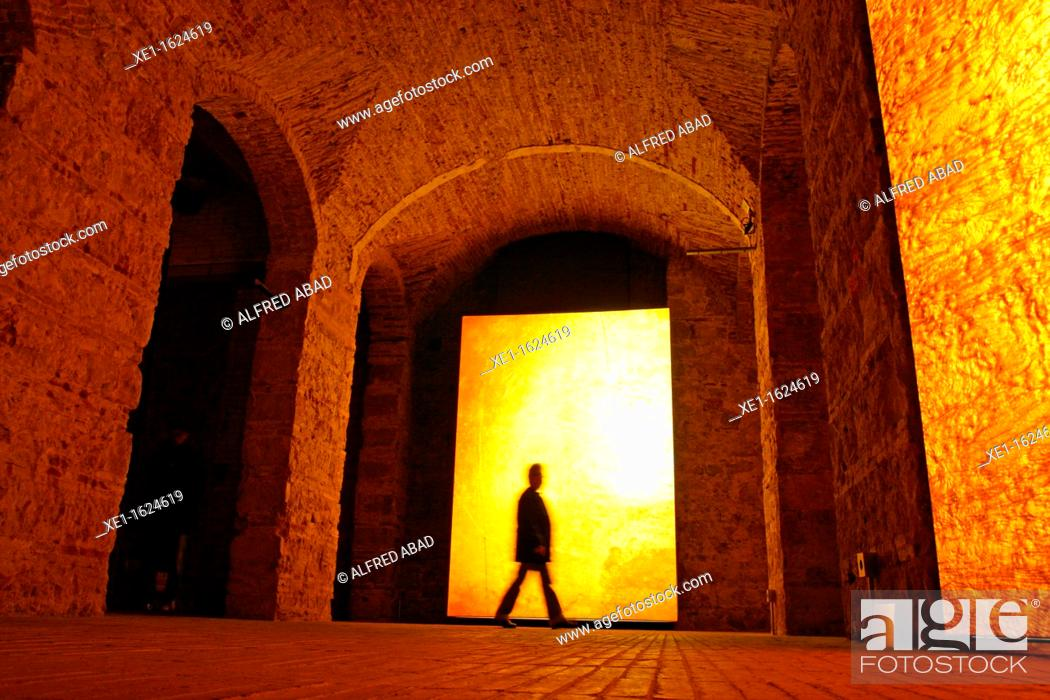 Stock Photo: Moritz beer factory, 2011, arch. Jean Nouvel, Barcelona, Catalonia, Spain.