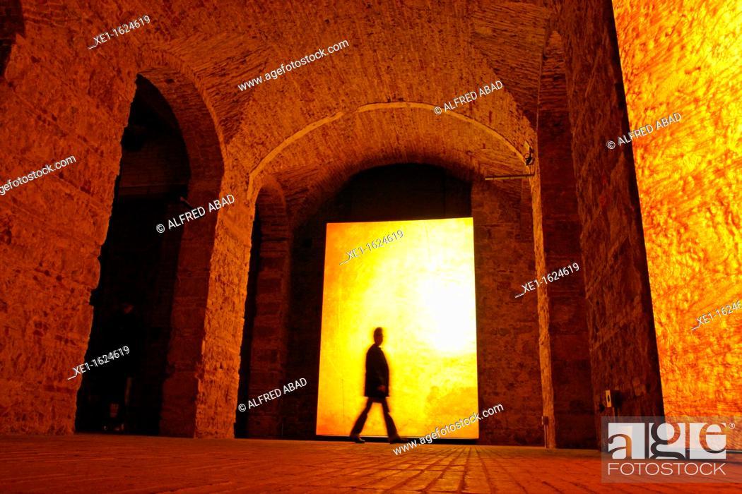 Stock Photo: Moritz beer factory, 2011, arch. Jean Nouvel, Barcelona, Catalonia, Spain.