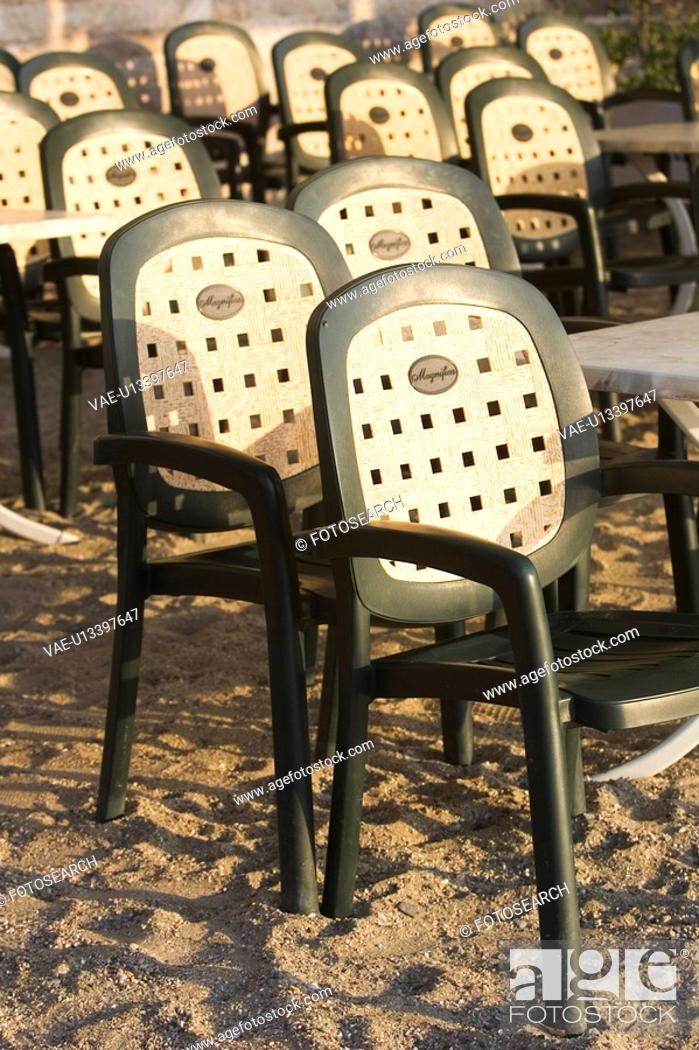 Stock Photo: Chair, Large Group Of Objects, In A Row, Empty, Arrangement.