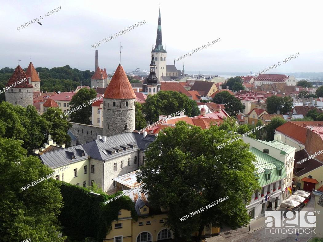 Stock Photo: Tallinn Old Medieval Town Overview Celebrity Constellation in Background-Tallinn, Estonia.