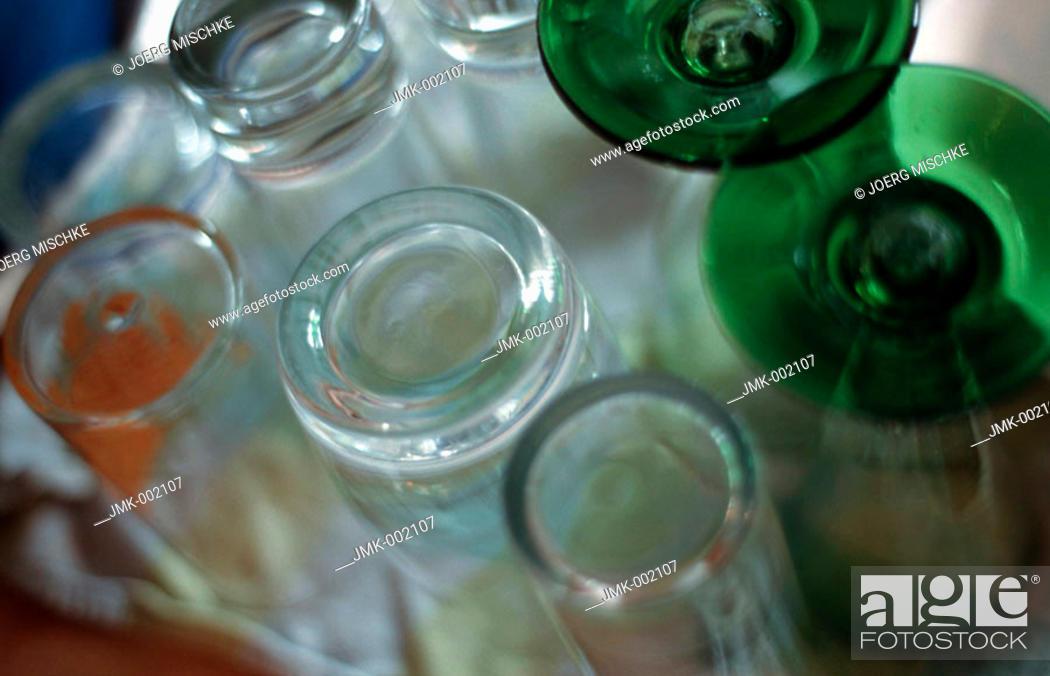 Stock Photo: Drinking glasses.