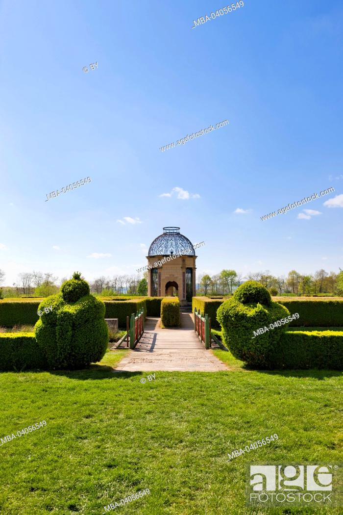 Stock Photo: Pavilion in the castle grounds, Chateau Cormatin, France.