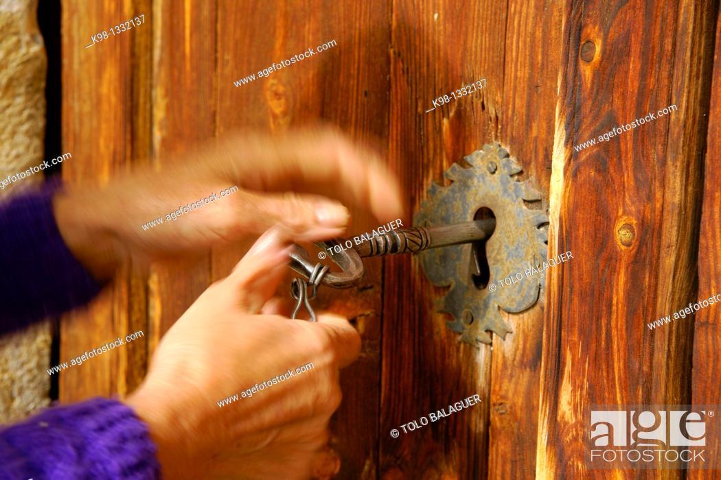 Stock Photo: Bestué Parish Church Huesca Pyrenees Spain.
