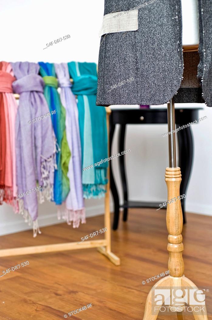 Stock Photo: Interior of a tailor studio.