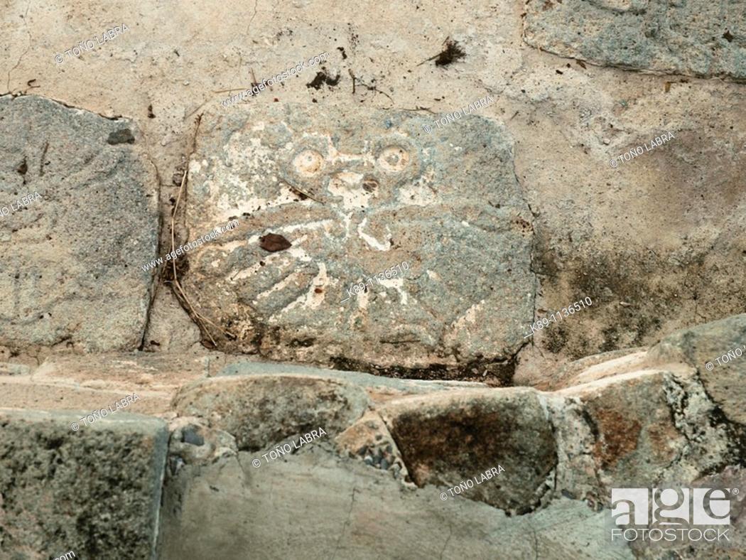 Stock Photo: Xochicalco archaelogical site. Mexico.