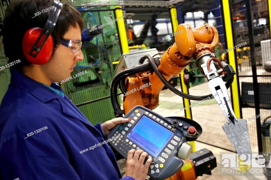 Stock Photo: Forging robot, tools manufacturer, Gipuzkoa, Euskadi, Spain.