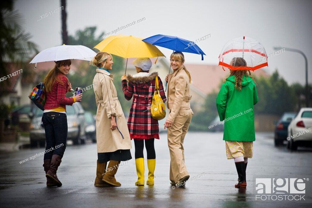 Stock Photo: A rainy day portrait session.