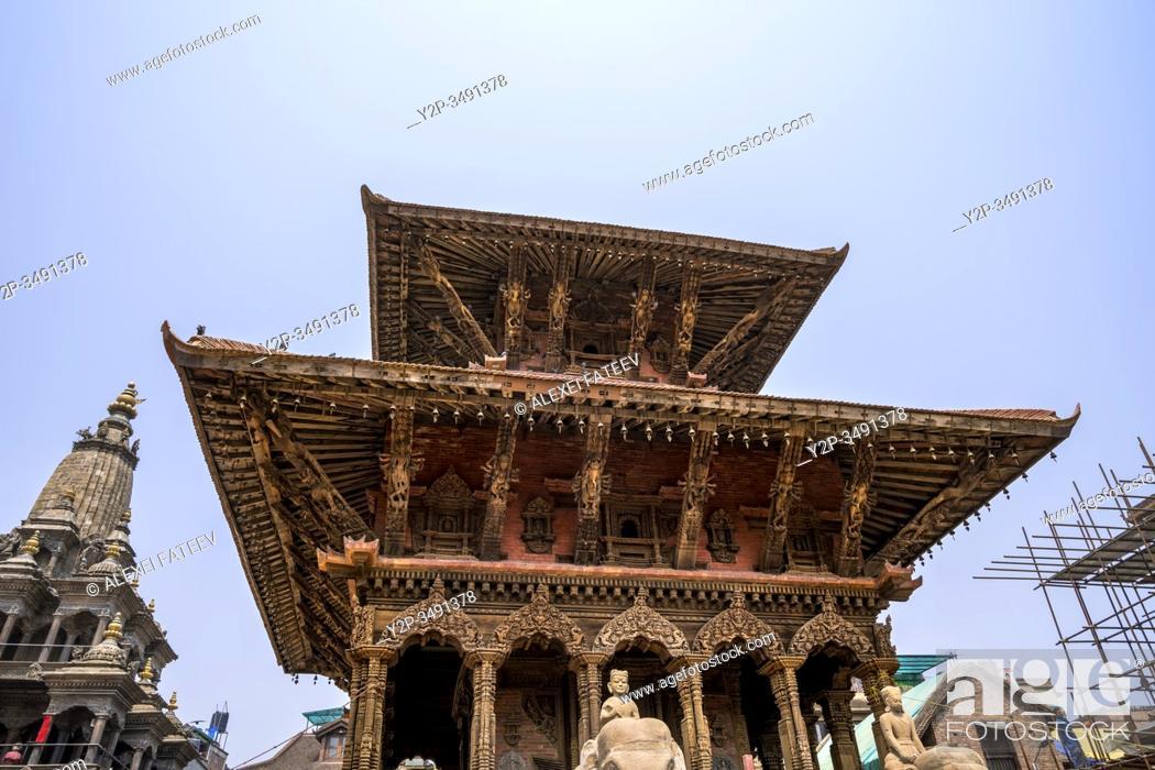 Imagen: Viswonath Temple at Durbar Square in Lalitpur (Patan), Kathmandu valley, Nepal.