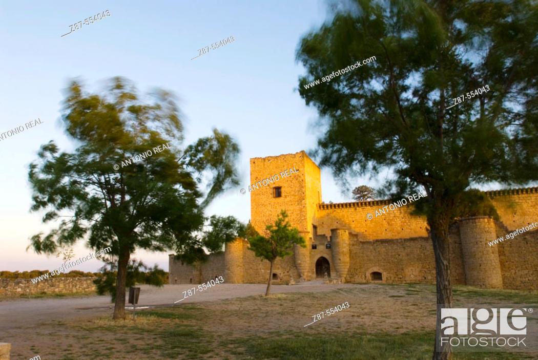 Stock Photo: Castle. Pedraza. Segovia province, Spain.