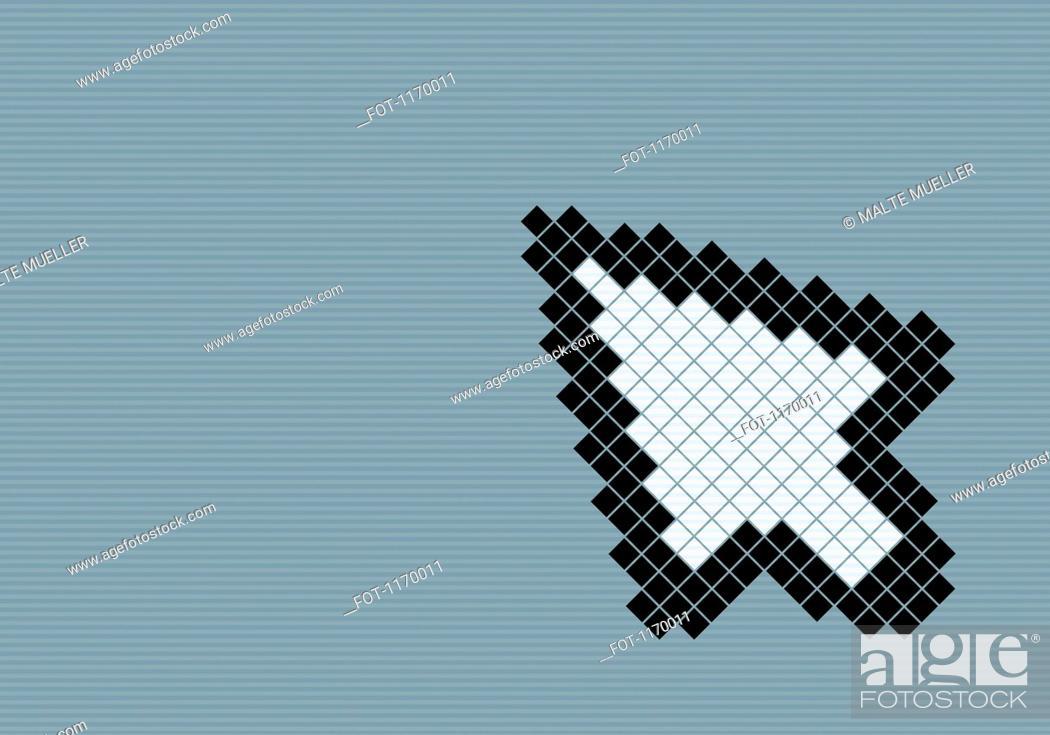 Stock Photo: 8-bit style cursor arrow.