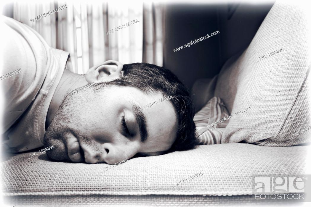 Stock Photo: The end of a hard workday.