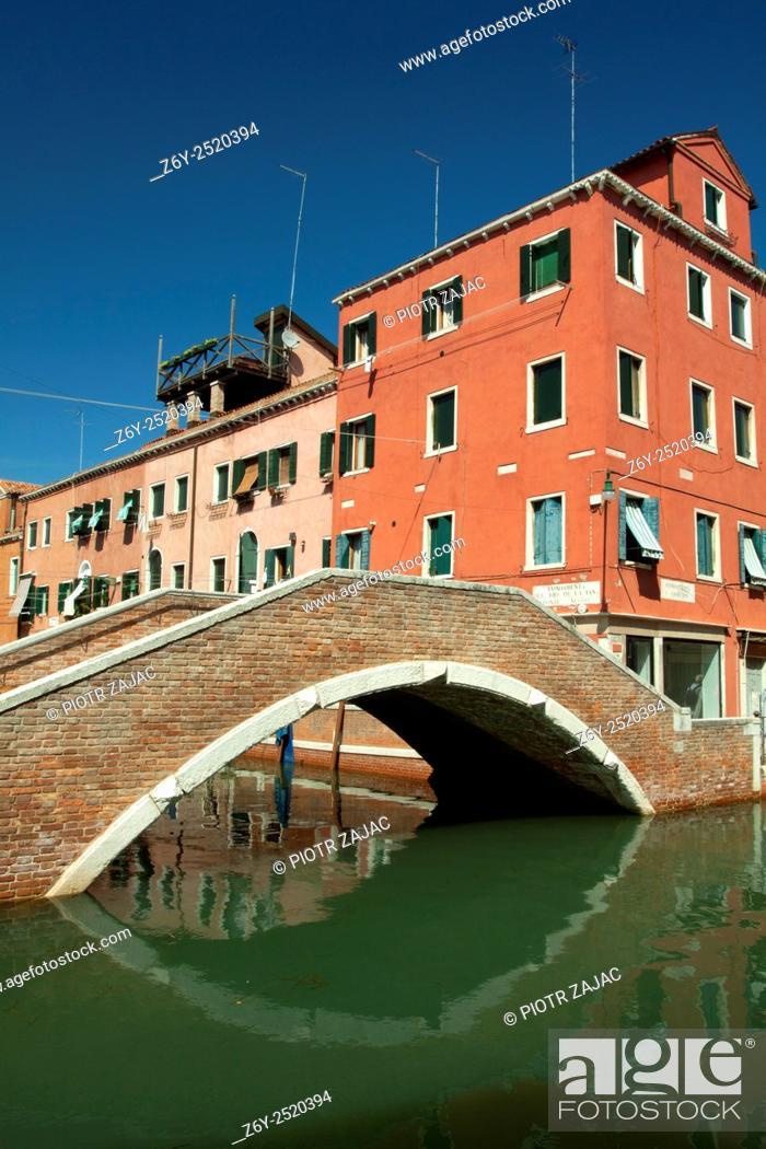 Stock Photo: Bridge in Venice, Italy.