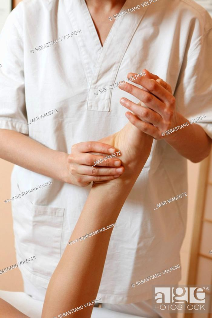 Stock Photo: physiotherapy.