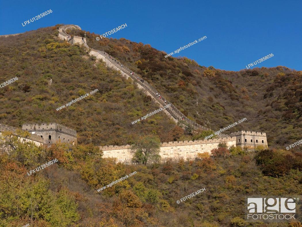 Stock Photo: Mutianyu section of the Great Wall of China, Beijing, China.