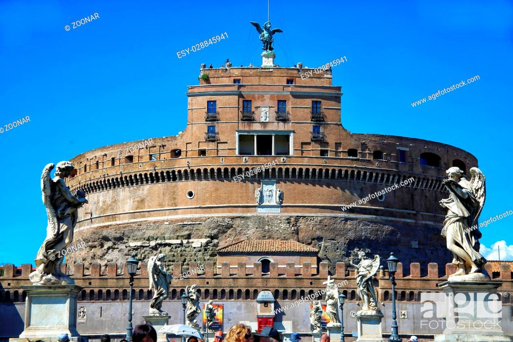 Stock Photo: Angel's castle in Rome.