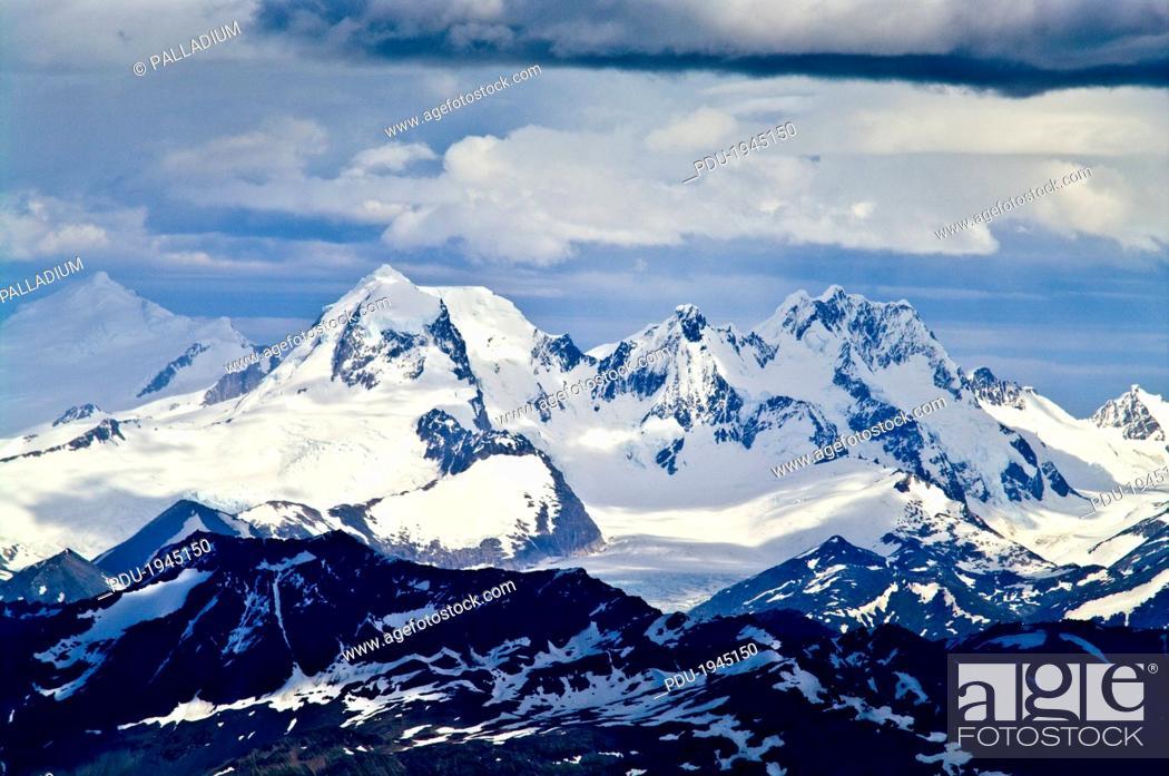 Stock Photo: Ushuaia, Martial Mountains, Fuegian Andes, Tierra del Fuego Archipelago, Straits of Magellan, Tierra del Fuego Province, Patagonia, Argentina.