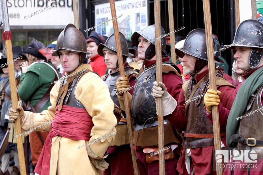 Holly Holy Day, Nantwich,Cheshire,UK  Soldiers reenact the Battle of