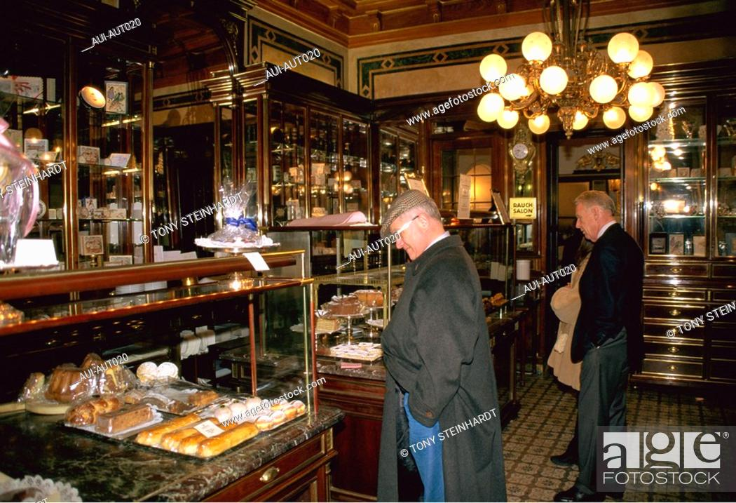Stock Photo: Austria - Vienna - The Demel - Cake shop.