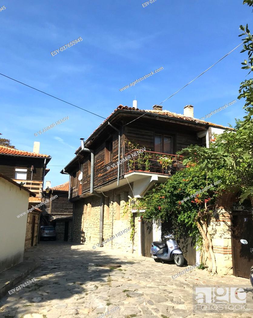 Stock Photo: Nesebar, Bulgaria: Seaside resort and ancient old town Nesebar in Bulgaria.