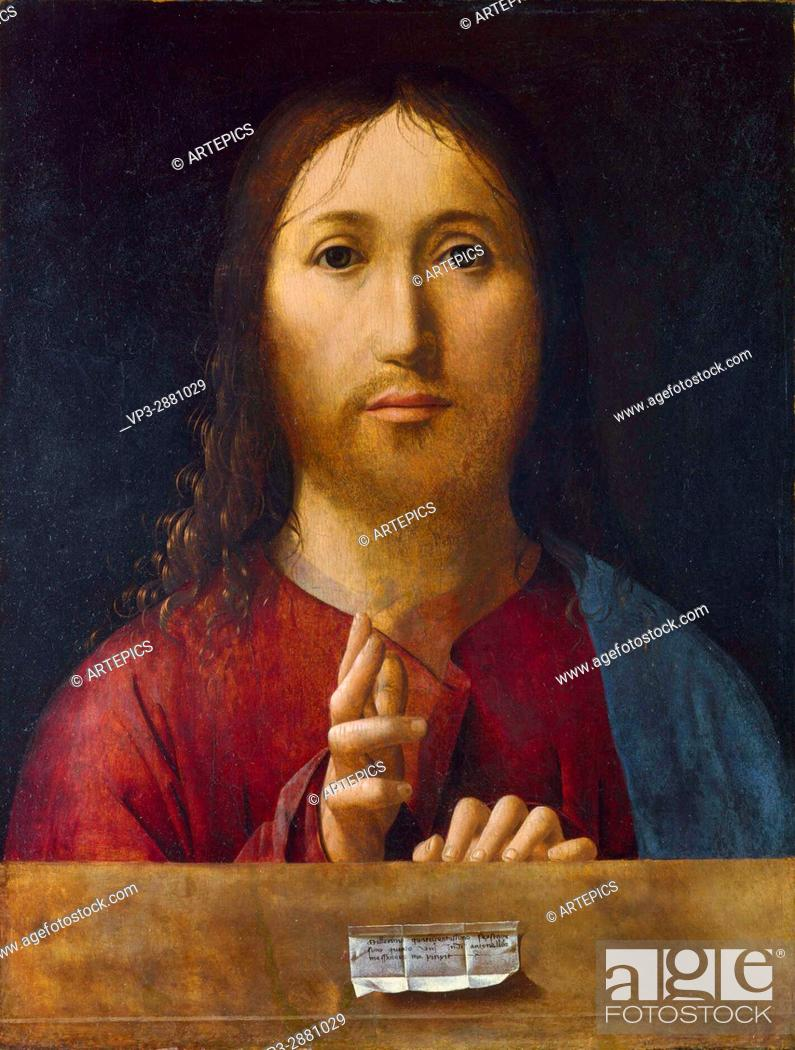 Imagen: Antonello da Messina . Salvator mundi. National Gallery - London.