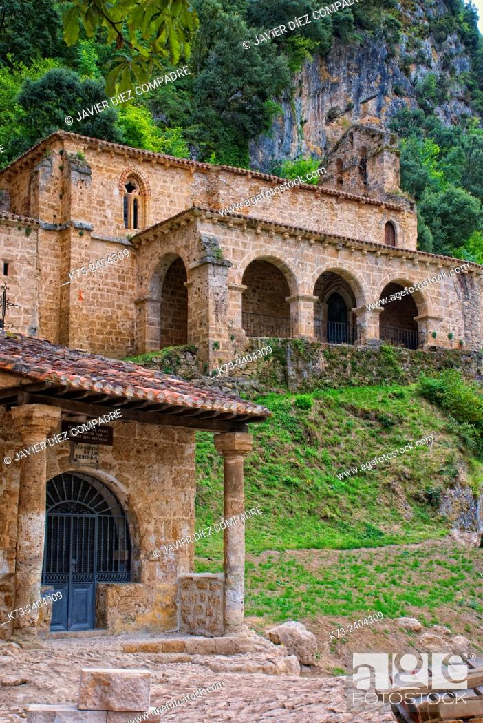 Stock Photo: Romanesque Chapel of Santa María de la Hoz (12th Century). Tobera. Frías. Burgos province. Castilla y Leon. Spain.