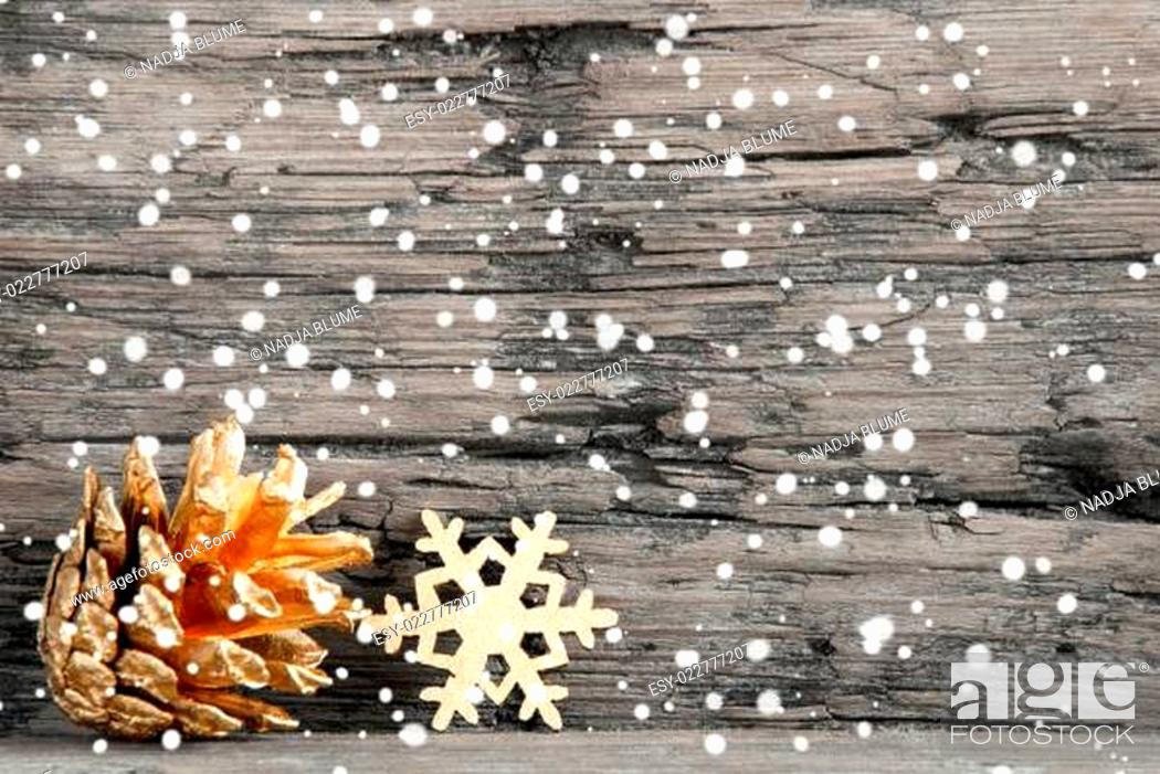 Stock Photo: Snowy Christmas Background.