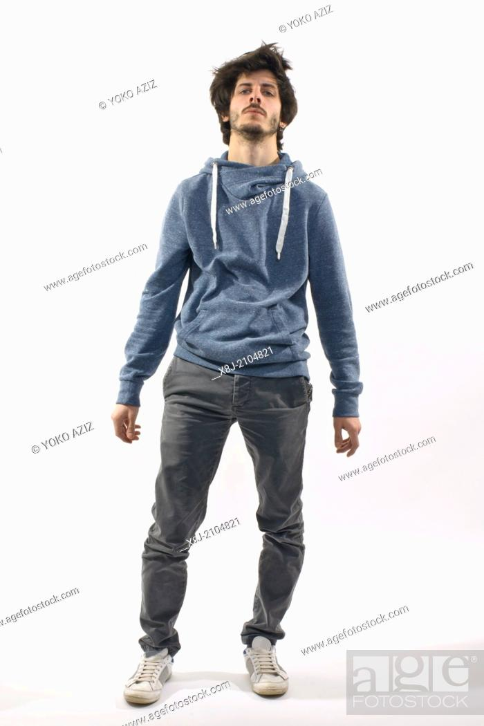 Stock Photo: Young man in funny position.