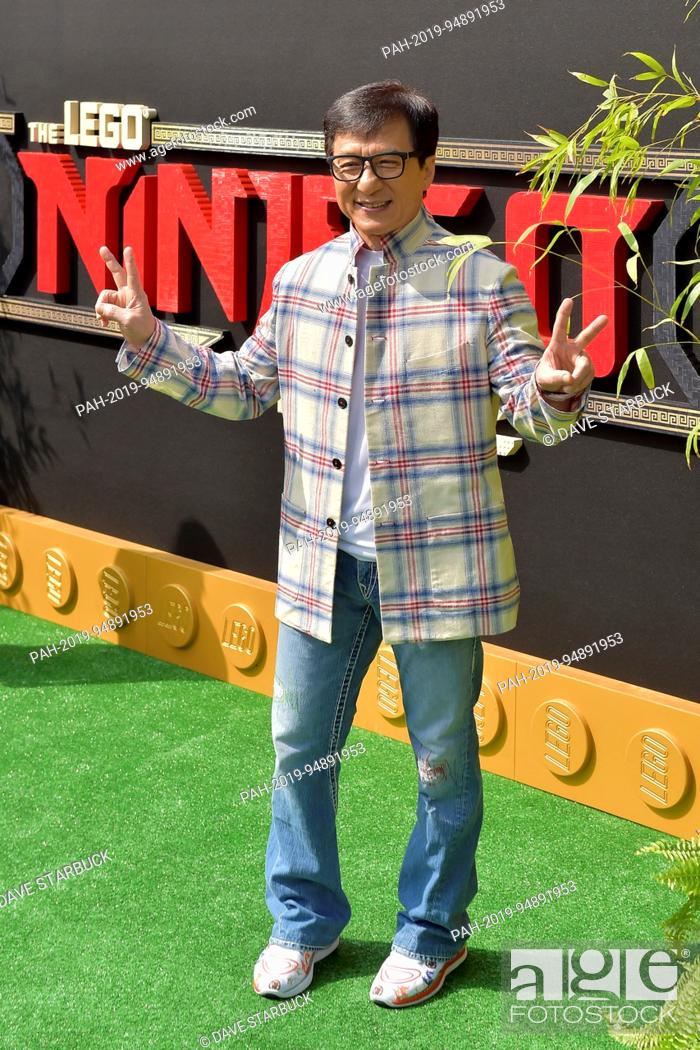 Jackie Chan at the premiere of 'The LEGO Ninjago Movie' in ...