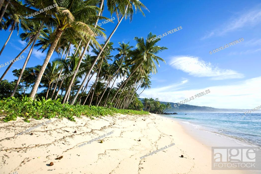 Stock Photo: Lavena Beach, Taveuni, Fiji.