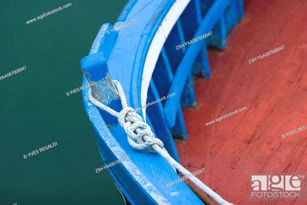 Stock Photo: Boat moorings, close-up.